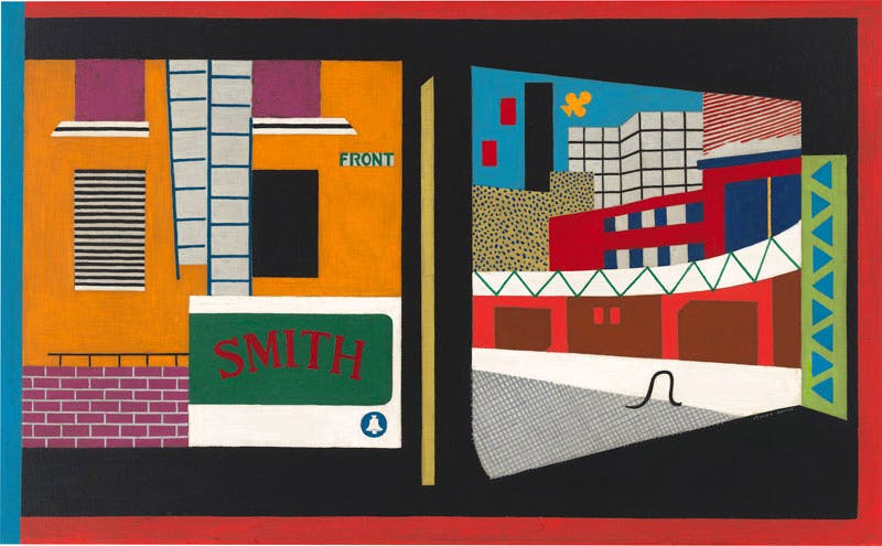 House and Street (1931), Stuart Davis. Whitney Museum of American Art, New York, Purchase. Art © Estate of Stuart Davis/Licensed by VAGA, New York, NY.