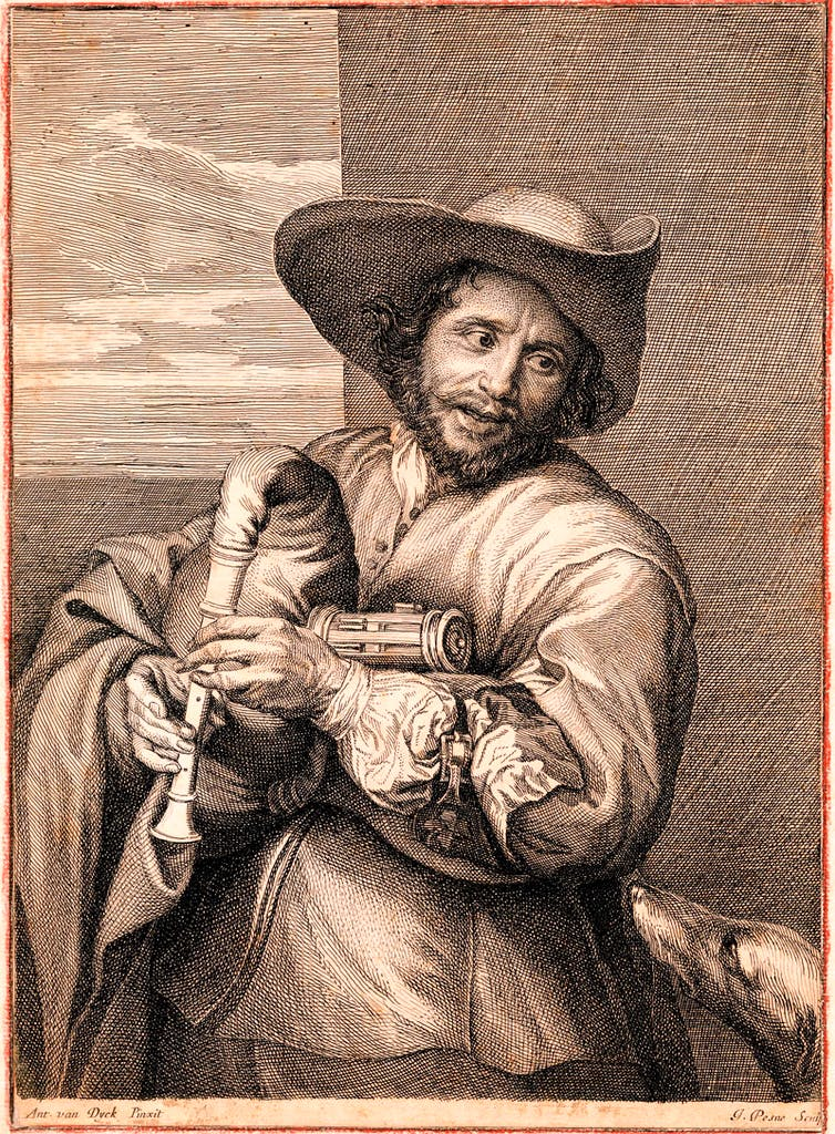 Portrait of François Langlois, called 'Il Chiartres' (c. 1650), Jean Pesne after Anthony van Dyck. British Museum, London; Courtesy The Trustees of the British Museum