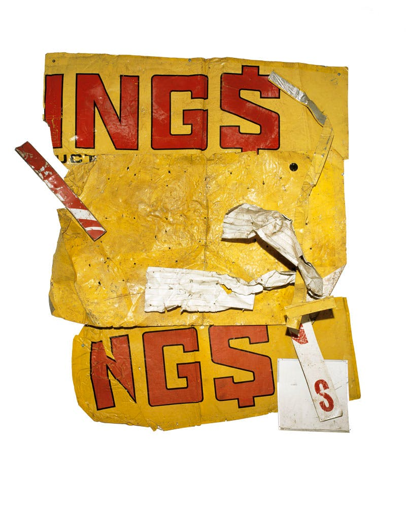 Yellow Moby Glut (1986), Robert Rauschenberg. Private collection.