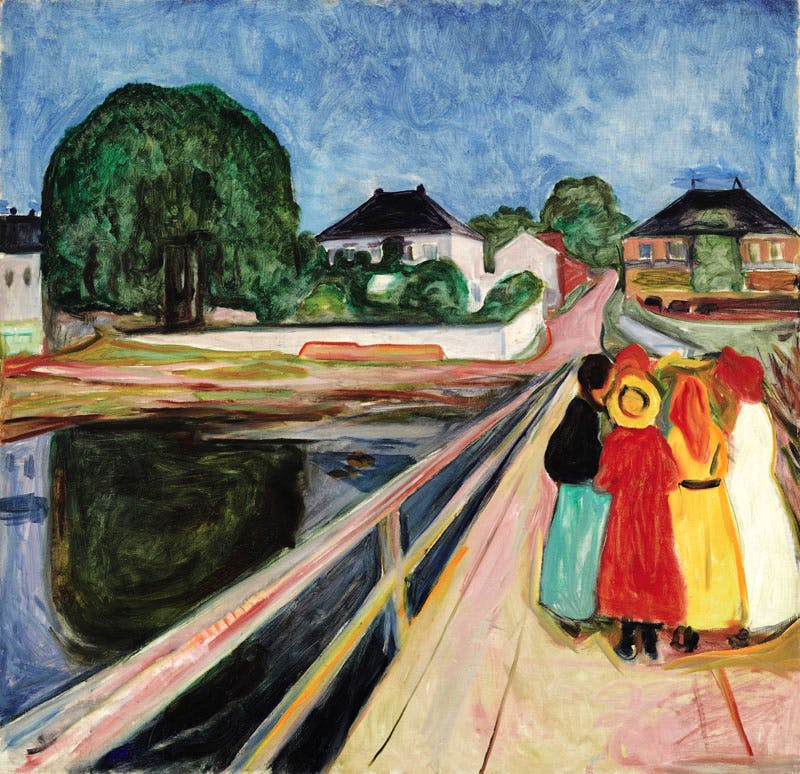 Pikene på broen (Girls on the Bridge) (1902), by Edvard Munch, sold for $54.4m at Sotheby's New York