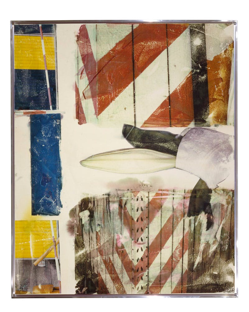 Early Bloomer [Anagram (A Pun)] (1998), Robert Rauschenberg, inkjet pigment transfer on polylaminate. The White House, Washington, D.C. © Robert Rauschenberg Foundation