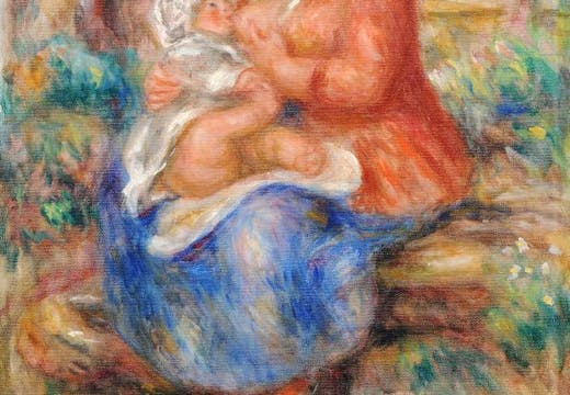 Aline Renoir Nursing her Baby (1915), Pierre-Auguste Renoir. Kunstmuseum Bern