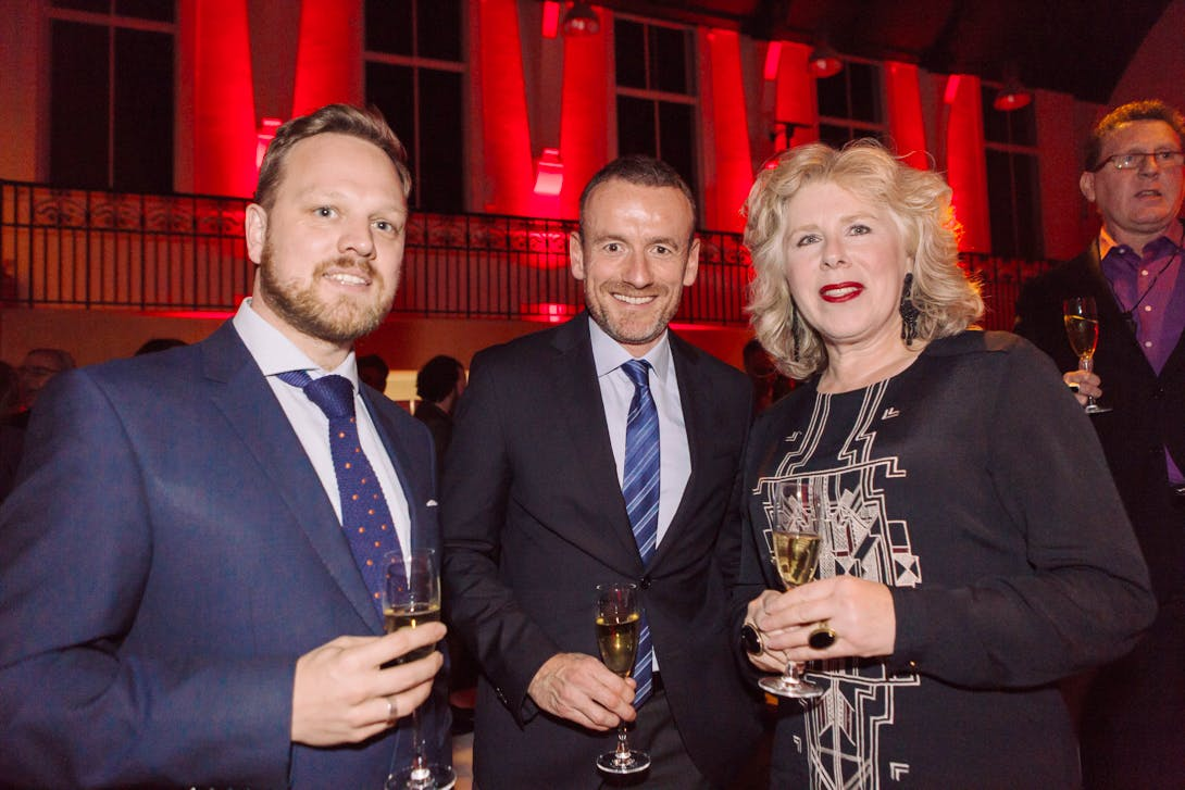 Simon Martin, Axel Ruger and Kathleen Soriano at the Apollo Awards 2016. Photo © Amy Scaife