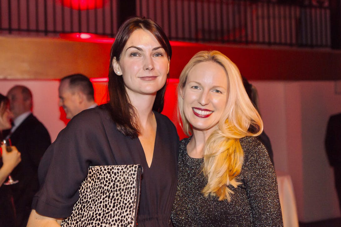 Jo Baring and Mieka Sywak at the Apollo Awards 2016. Photo © Amy Scaife