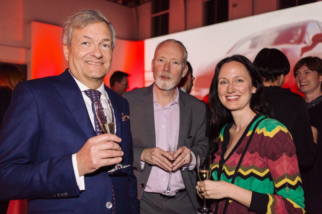 Charles de Mooij, Alex Morrison and Jennifer Sliwka at the Apollo Awards 2016. Photo © Amy Scaife