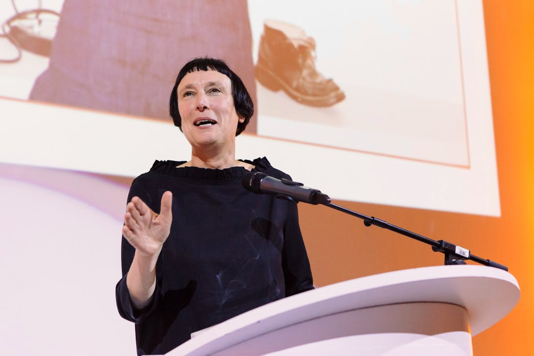 Cornelia Parker - Apollo's Artist of the Year 2016 - at the Apollo Awards ceremony in London. Photo © Amy Scaife