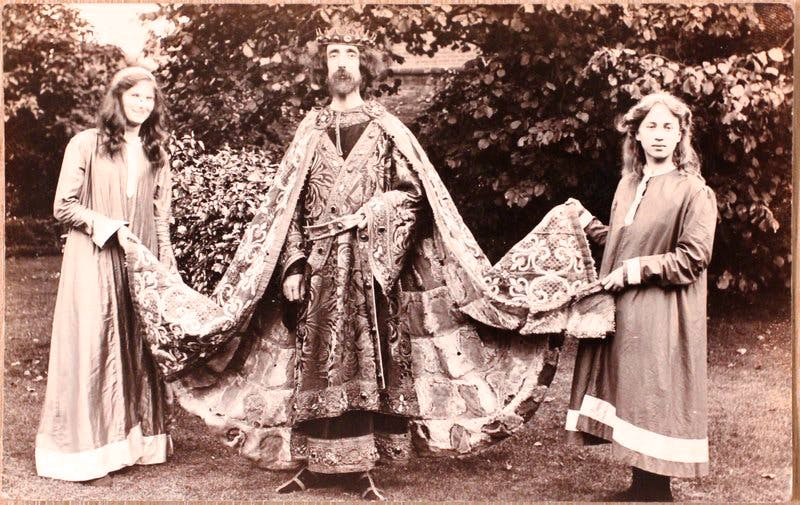 Horace Barker as King John (postcard),
