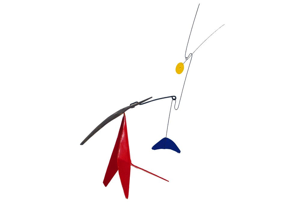 Blue Counterweight, Two Spines (1975), Alexander Calder