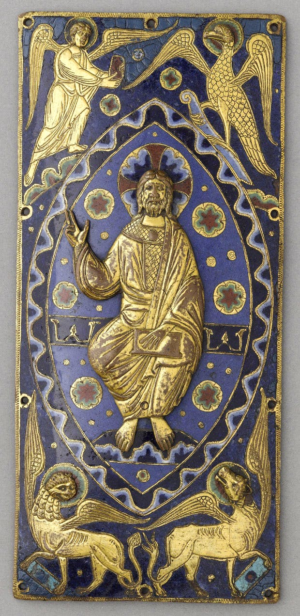 Plaque for a book cover with Christ in Majesty