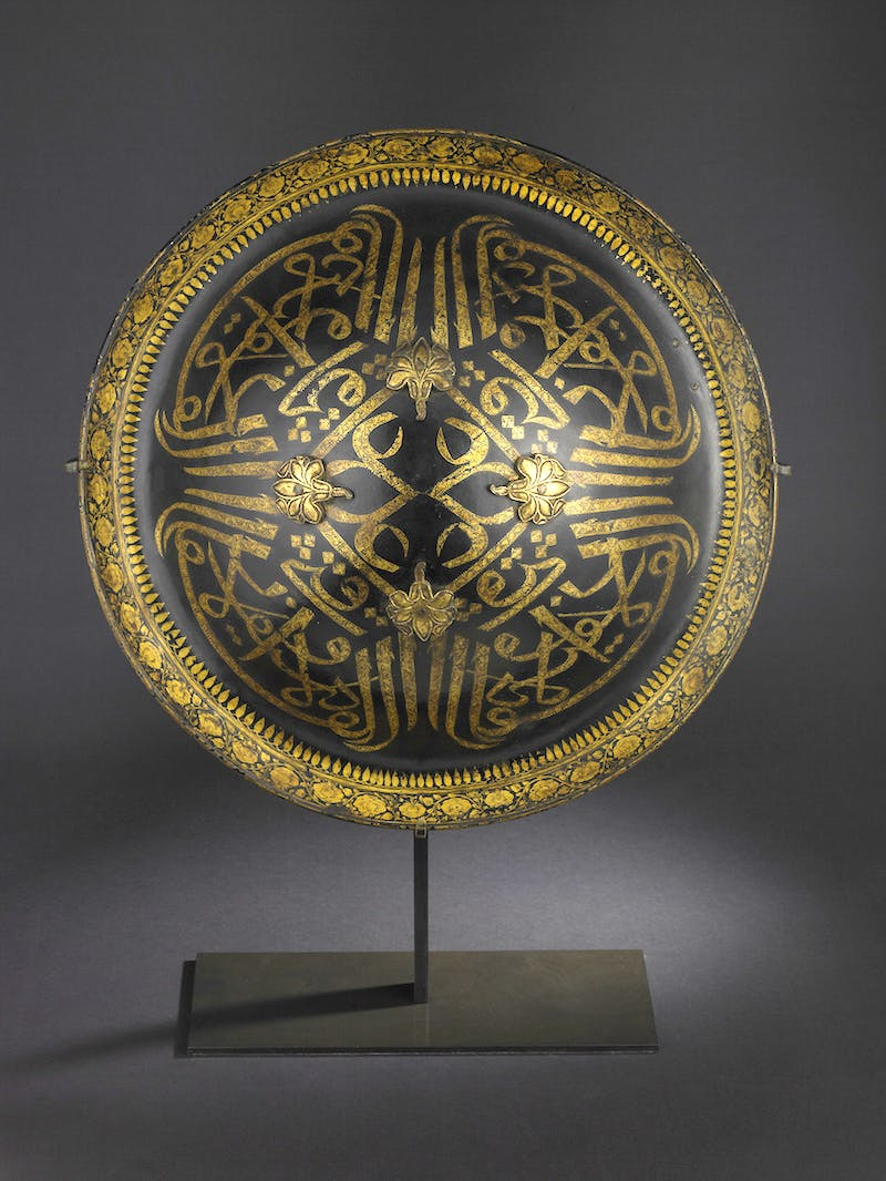 An Indian lacquered shield (18th century), Mysore.
