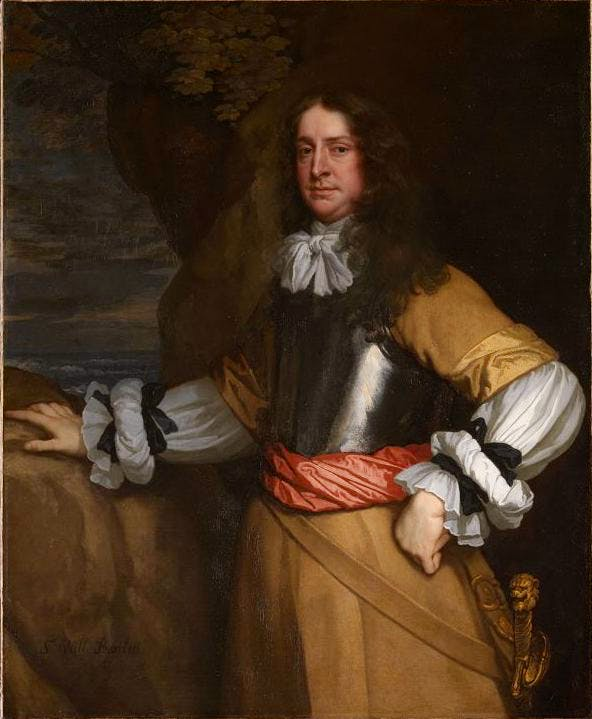 Flagmen of Lowestoft: Vice Admiral Sir William Berkeley (c. 1665–66), Sir Peter Lely. National Maritime Museum, Greenwich