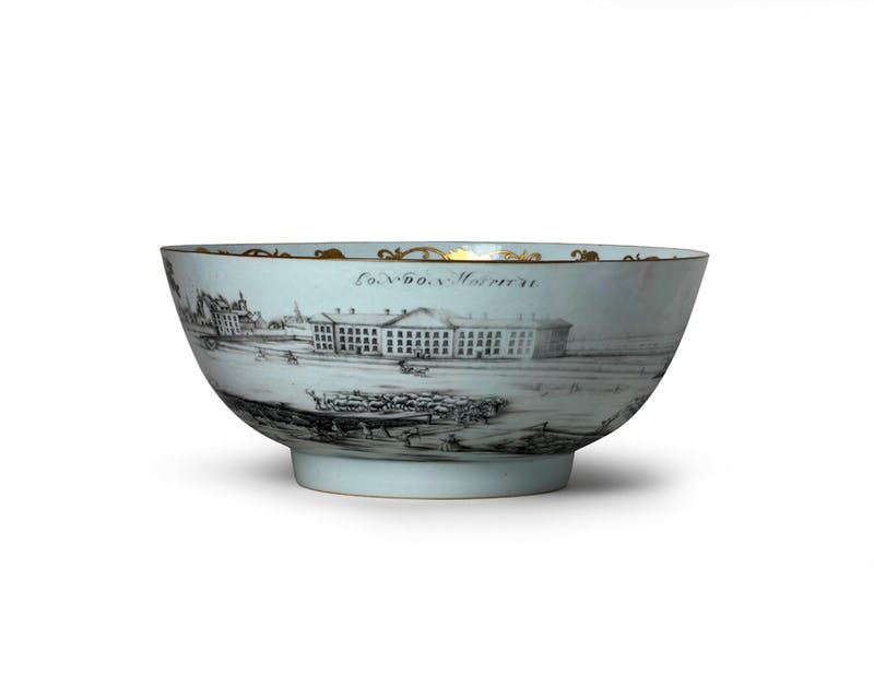 Punch bowl (c. 1790), China, Qianlong period.