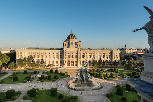 View of the Kunsthistorisches Museum in Vienna, looking across Maria-Theresien-Platz to the main entrance