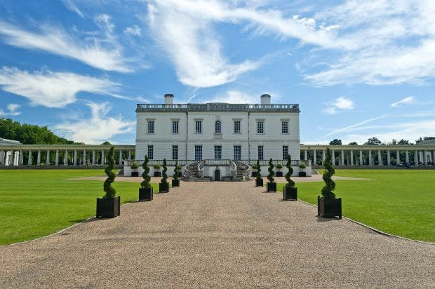 The Queen's House, Greenwich, designed by Inigo Jones in 1616 and completed in 1635. Royal Museums Greenwich