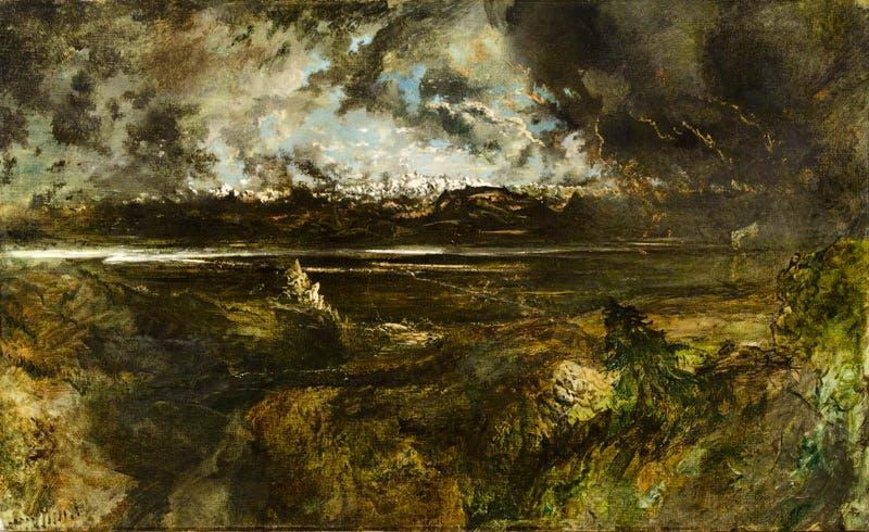 Mont Blanc Seen from La Faucille, Storm Effect (begun 1834), Théodore Rousseau. Ny Carlsberg Glyptotek, Copenhagen