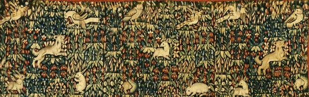 Millefleur tapestry