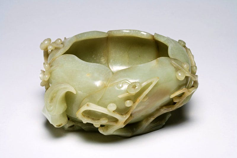 Jade brush washer, (16th century), Chinese, late Ming dynasty, jade. Fitzwilliam Museum, Cambridge