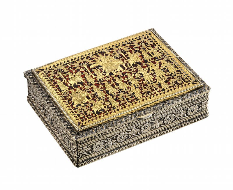 A Pratapgarh box (late 19th/early 20th century), India.