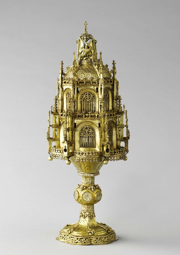 Reliquary with architectural and plant motifs