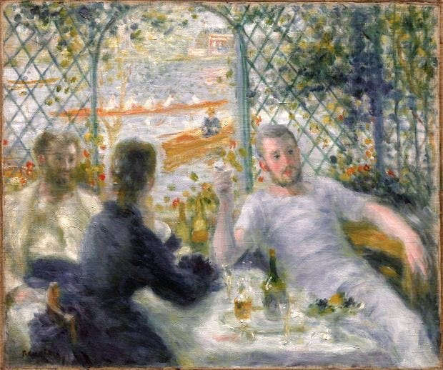 The Rowers' Lunch (1875), Pierre-Auguste Renoir. The Art Institute of Chicago.