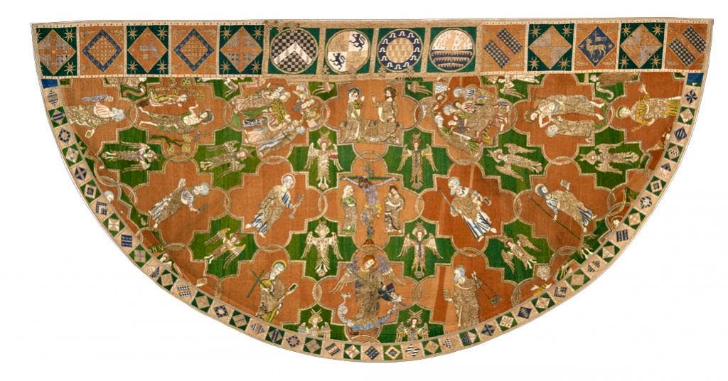 The Syon Cope (detail; 1310–20), English. Victoria and Albert Museum, London