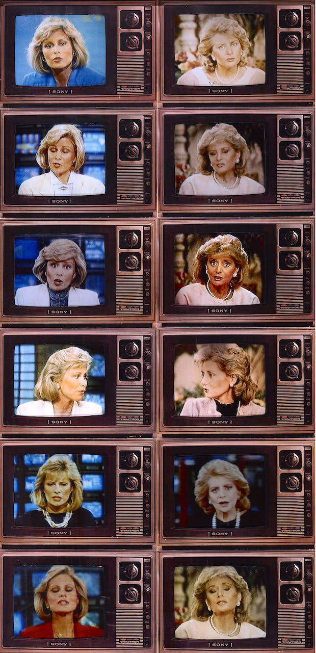 TV Newswomen (Faith Daniels and Barbara Walters), (1986), Robert Heinecken