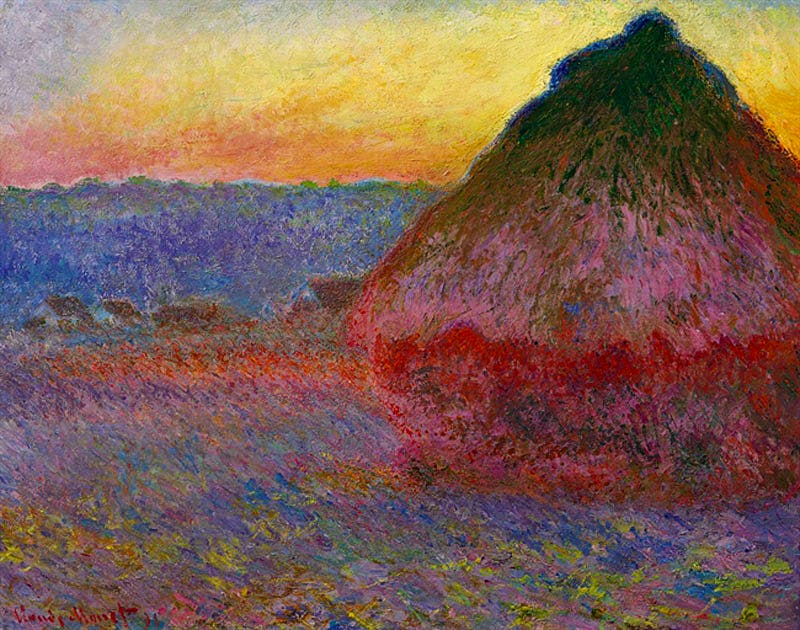 Meule (Grainstack) (1891), by Claude Monet, sold for a record $81.4m at Christie's New York.