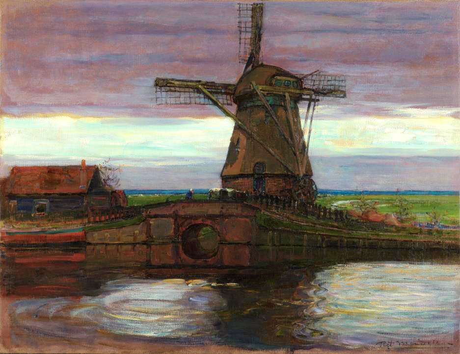 Stammer Mill with Streaked Sky (1905–07), Piet Mondrian. Acquisitions of the Month.