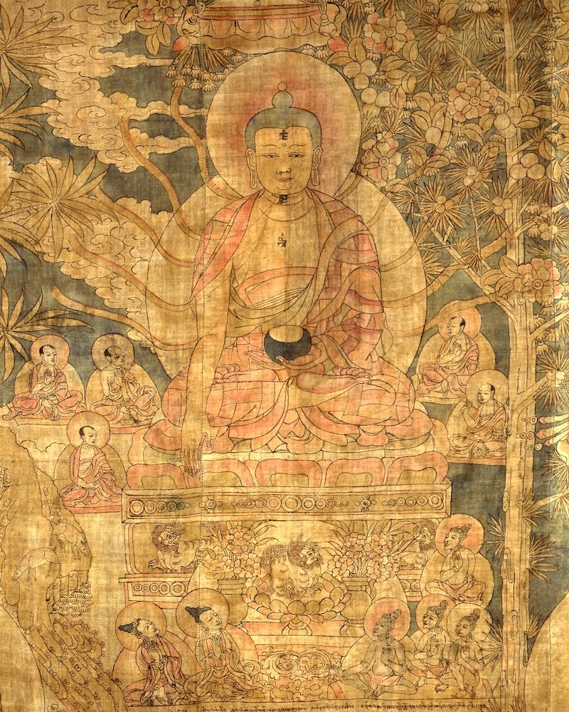 (detail; 14th century), Eastern Tibet.