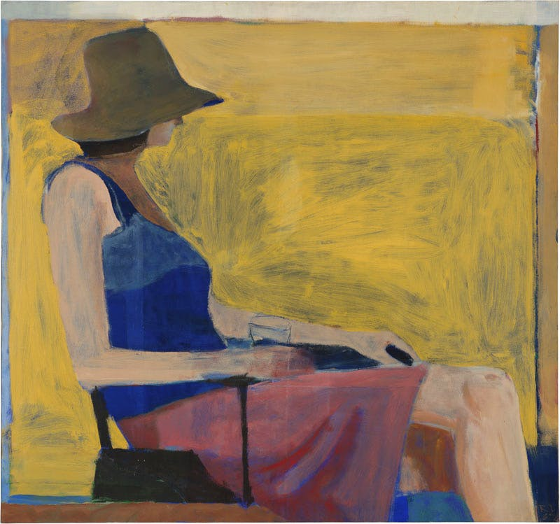 Seated Figure with Hat (1967), Richard Diebenkorn. National Gallery of Art, Washington, D.C. © 2016 The Richard Diebenkorn Foundation
