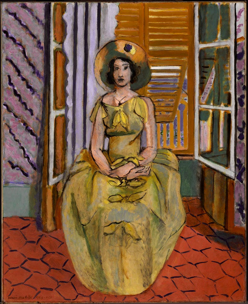 The Yellow Dress (1929-31), Henri Matisse. The Baltimore Museum of Art. © 2016 Succession H. Matisse / ARS NY