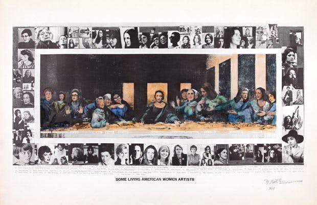 Some Living American Women Artists / Last Supper (1972), Mary Beth Edelson. © Mary Beth Edelson. Courtesy of Balice Hertling, LLC, New York / The SAMMLUNG VERBUND Collection, Vienna