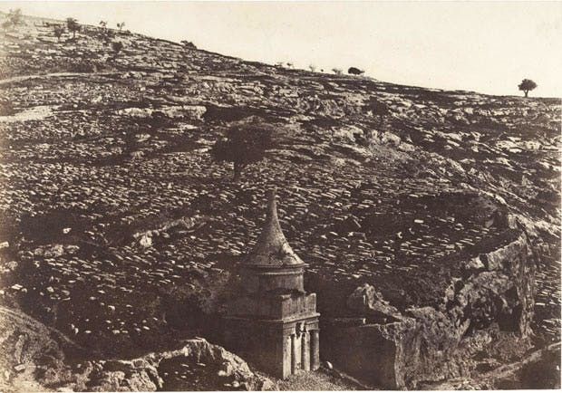 Jerusalem, Valley of Jehoshaphat, Northwest Side, 1 (1854), Auguste Salzmann.