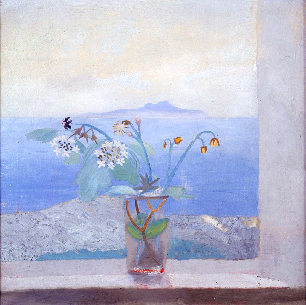 The Isle of Man from St Bees (c. 1945), Winifred Nicholson