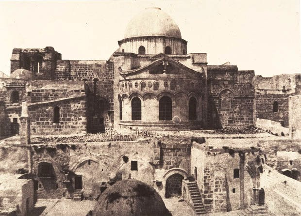 Jerusalem, Church of the Holy Sepulchre, Apse (1854), Auguste Salzmann.