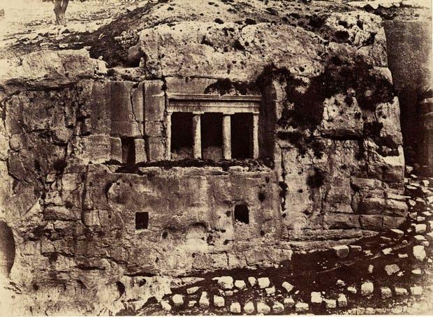 Jerusalem, Valley of Jehoshaphat, Tomb of Saint James (1854), Auguste Salzmann.