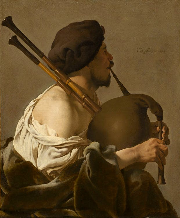 The Bagpipe Player, (1624), Ter Brugghen