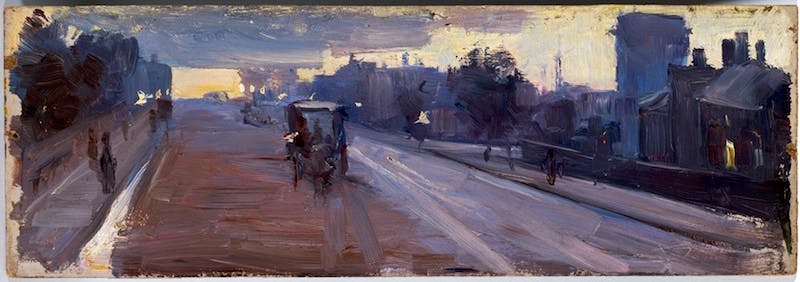 Hoddle St., 10 p.m. (1889), Arthur Streeton. National Gallery of Australia, Canberra