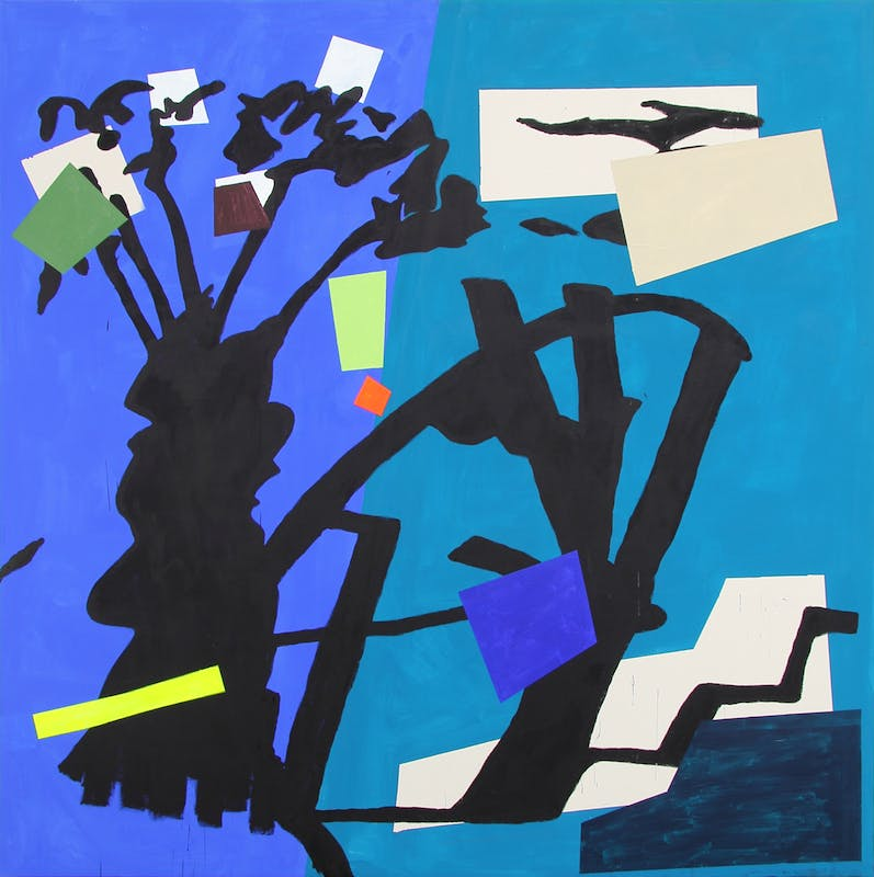 bruce-mclean-shade-painting-blue-2016-oil-and-acrylic-on-canvas-265-x-265-cm-courtesy-of-bernard-jacobson-gallery