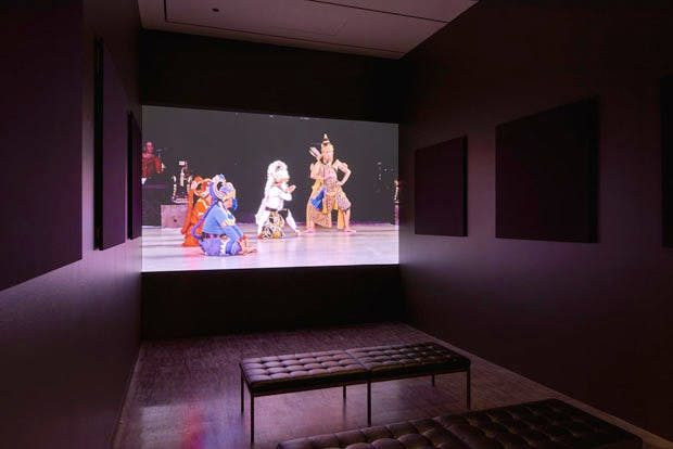 Installation view of 'The Rama Epic: Hero, Heroine, Ally, Foe' at the Asian Art Museum, San Francisco.