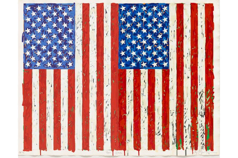 Flags I, (1973), Jasper Johns.
