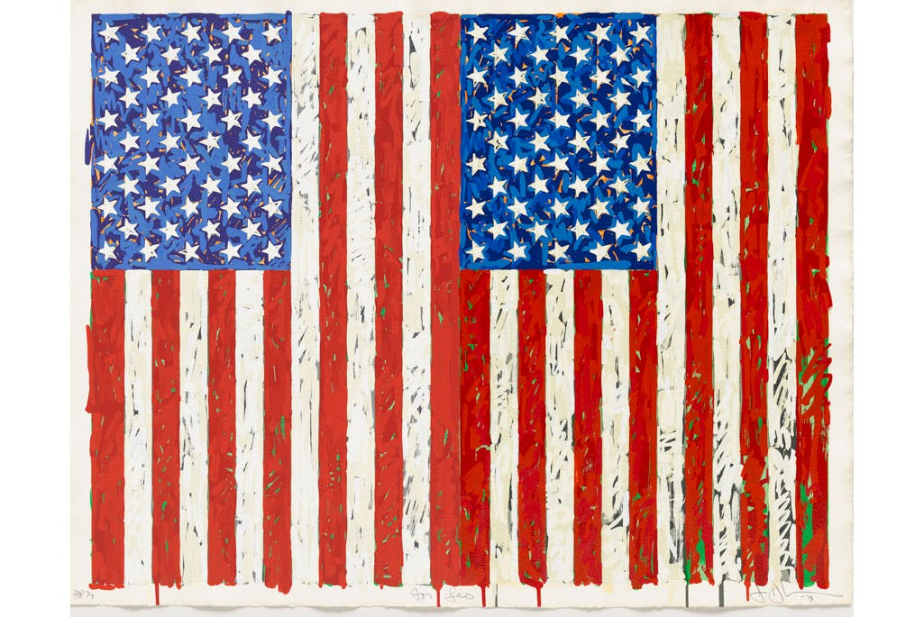 Flags I, (1973), Jasper Johns.