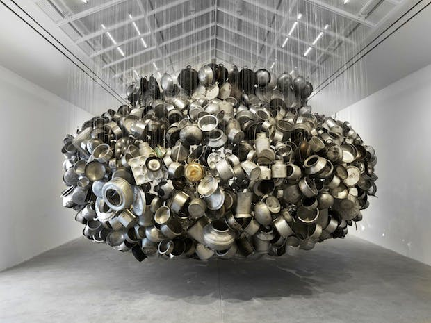Chanda Mama door ke (From Far Away Uncle Moon Calls) (2015), Subodh Gupta. Courtesy the artist and Hauser & Wirth, Photo: Ken Adlard