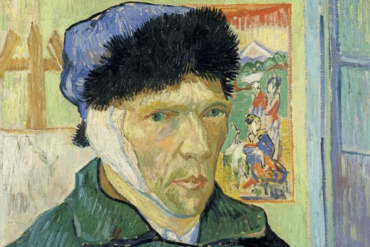 Self-Portrait with Bandaged Ear, 1889, Vincent van Gogh