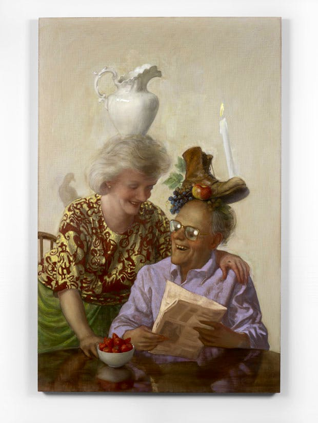 Newspaper Couple (2016), John Currin. © The artist. Courtesy Sadie Coles HQ, London