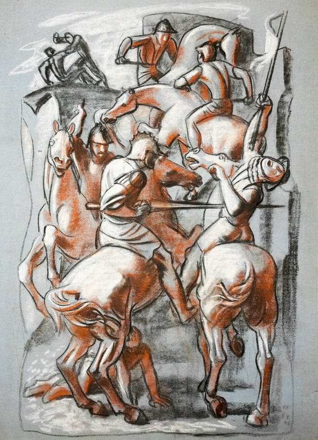 Preparatory Study for Mural (date unknown), Hans Feibusch. © By Permission of The Werthwhile Foundation