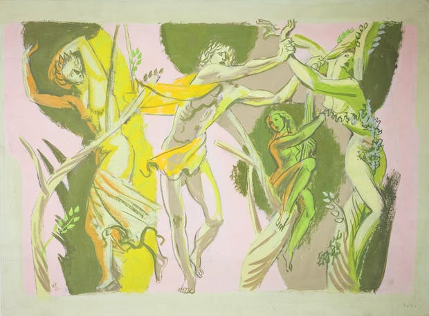 Preparatory Study for Mural (1952), Hans Feibusch. © By Permission of The Werthwhile Foundation