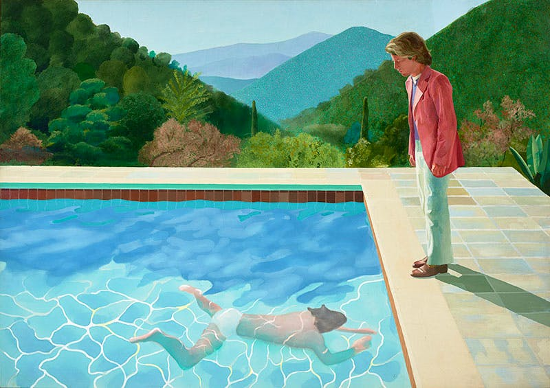 Portrait of an Artist (Pool with Two Figures) (1971), David Hockney.
