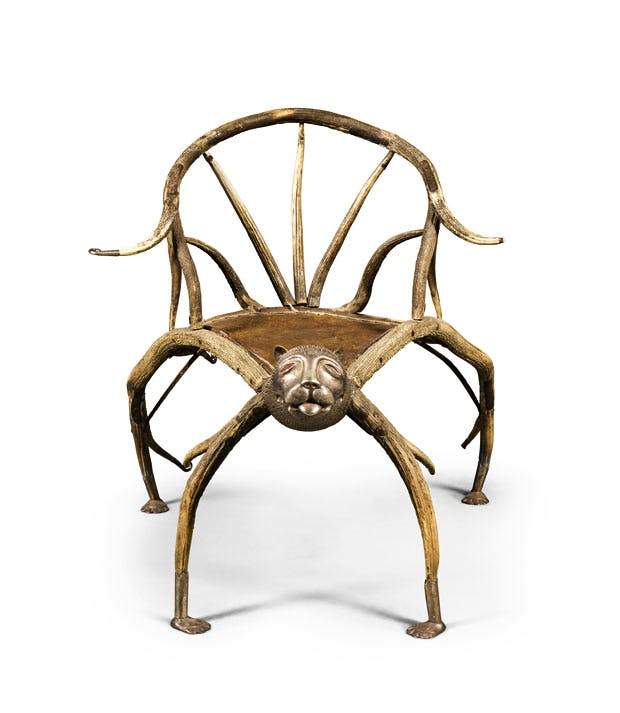 Stag-antler chair