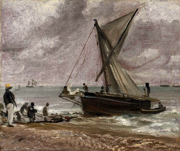 Beaching a Boat, Brighton (1824), John Constable. Christie's London (£500,000–£800,000)